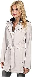 Nautica Women's Hooded Zip Front Layered Jacket