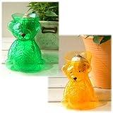 水栽培用ポット(ヒヤシンス用):ベアーポット2色(アンバー&グリーン)4個セット