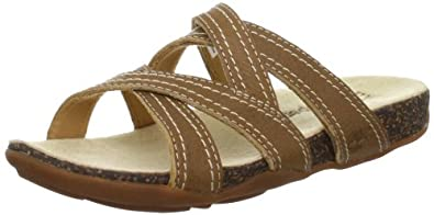 Timberland Women's BareStep Slide Sandal,Medium Brown,6 M US
