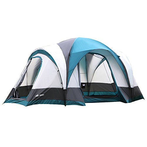 Semoo 7-Person Water Resistant Family Tent with Large D-Style Door