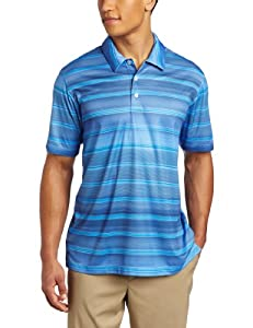 adidas Golf Men's's Climacool Gradient Stripe Polo, Oasis/Blueberry, Small