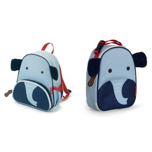 Skip Hop Zoo Backpack and Lunchie Set, Elephant - 1