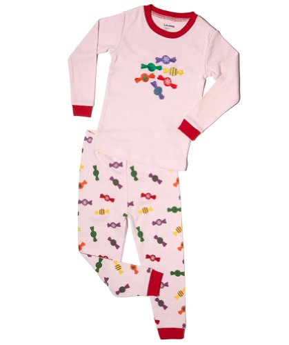 "Leveret ""Christmas Candy"" 2 Piece Pajama 100% Cotton (Size 6M-5T) *Christmas Collection* (3 Toddler) front-11833"