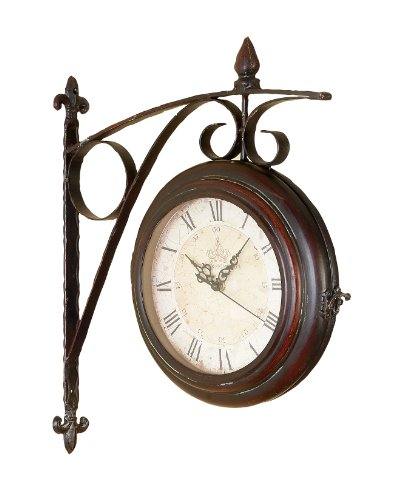 Roman Numeral Double Sided Wall Clock Train Station