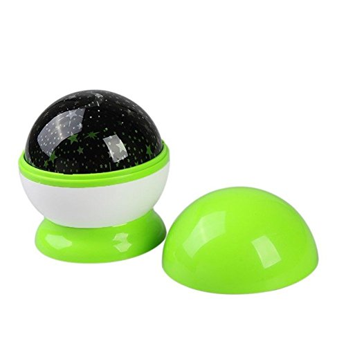 Rotating Romantic Star Moon Sky Cosmos Night Projector Light Lamp Green