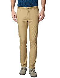 Peter England Khaki Trousers - B01CGMRIVS