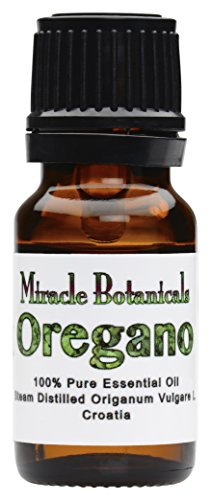 Miracle Botanicals Oregano Essential Oil - 100% Pure Origanum Vulgare L. - Therapeutic Grade 10ml