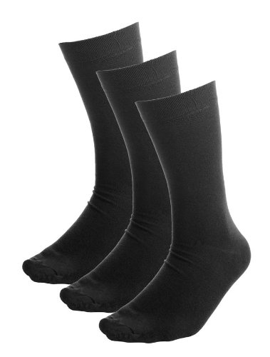 Men's Bamboo Socks - 9-11 UK, Black - 3 Pairs of Black Bamboo socks