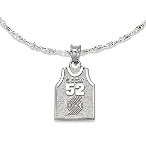 NSNSP19792V-#52 Oden Jersey Pendant - Nba Portland Trail Blazers by NBA Officially Licensed