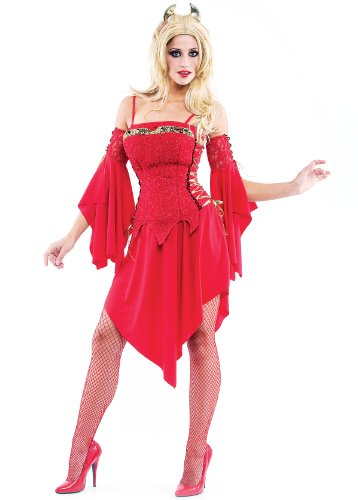 [Paper Magic Women's Hot Devil Coctume-1, Red, Small] (Hot Halloween Costumes Devil)