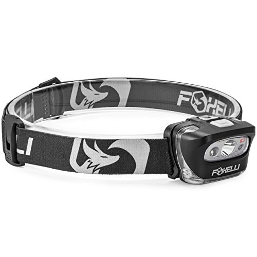 Foxelli Headlamp Flashlight - Bright 165 Lumen White Cree Led