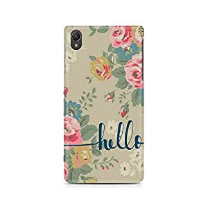 Mobicture Flowery Hello Premium Printed Case For Sony Xperia Z5 Dual