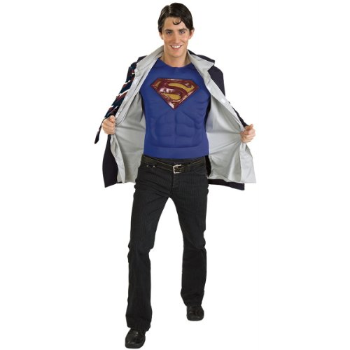 Clark Kent/Superman Reversible Adult Halloween Costume Size up to 44