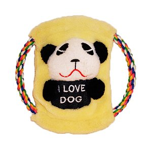 How's Your Dog 3-in-1 Plush Tug Toy Roped Frisbee – Panda