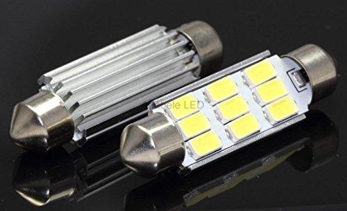 Samsung White 9 Led Map Dome Interior Light Bulb 42Mm Festoon 211-2 578 569 L78 @ 579, 212-2, 214-2 Compare To Sylvania Osram Phillips