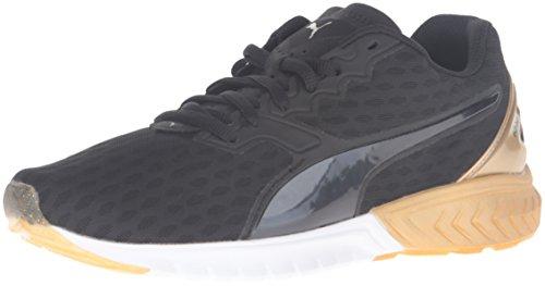PUMA Women's Ignite Dual Wn's Running Shoe, Puma Black/Gold, 7.5 M US