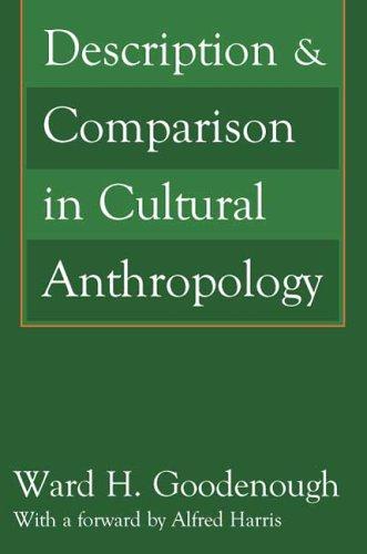 Description & Comparison in Cultural Anthropology