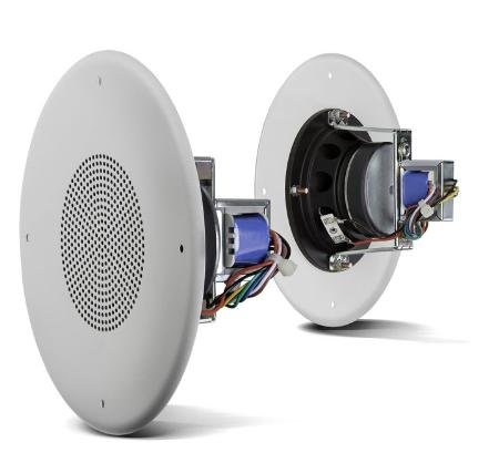 Ceiling Speaker With Grill 4In Dual Cone 8Ohm / 70V With Headphones