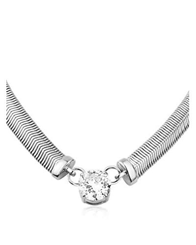 Dyrberg/Kern Collana Trisolia Ss Crystal Argentato