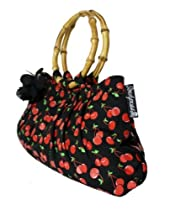 Sourpuss Pinup Girl Love Cherry Tiki Bamboo Handle Purse