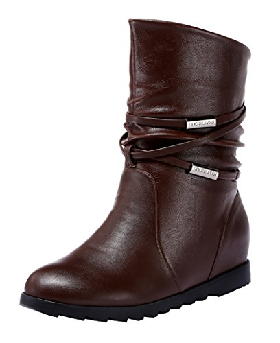 Guciheaven Winter Keep Warm Simple Graceful Short Boots(8 B(M)Us, Coffee)