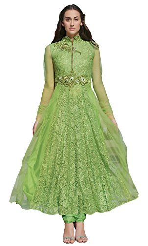 Heart & Soul Designer Wedding & Party Wear Fully Stitched Embroidery Designer Salwar Suits Dupatta XL size for women(Light Green)