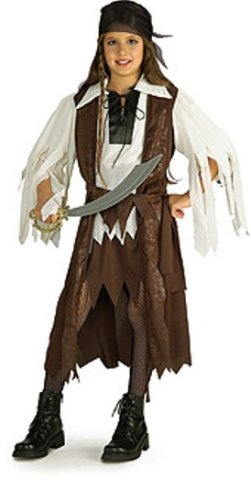 Halloween Concepts Children'S Costumes Caribbean Pirate Queen - Child'S Medium front-508585