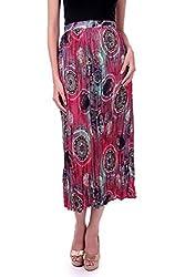 Sassafras Women's Skirt (SFSKRT3005L_Multi Colour_Large)