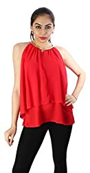 Tenn Women's Top (RDCT11NSXS_Red_Medium)