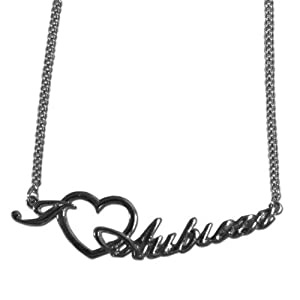 NCAA 18 Team Chain Necklace With I Heart Team Love Script Pendant