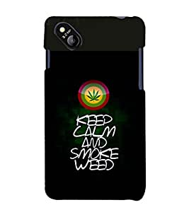 printtech Keep Calm Quotes Weed Back Case Cover for Micromax Bolt D303