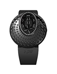 RSW Women's 7130.1.R1.1.D0 Moonflower Black IP Stainless Steel Diamond Automatic Rubber Watch