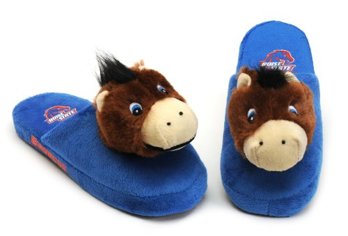 NCAA Boise State Broncos Kid's Mascot Slippers, Blue, X-Large