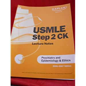Usmle Step 2 Ck Lecture Notes Psychiatry and Epidemiology & Ethics 41NRicWSzTL._SL500_AA300_