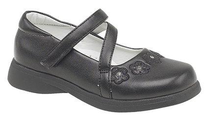 Mas BTS 738A Girls Black Shoes