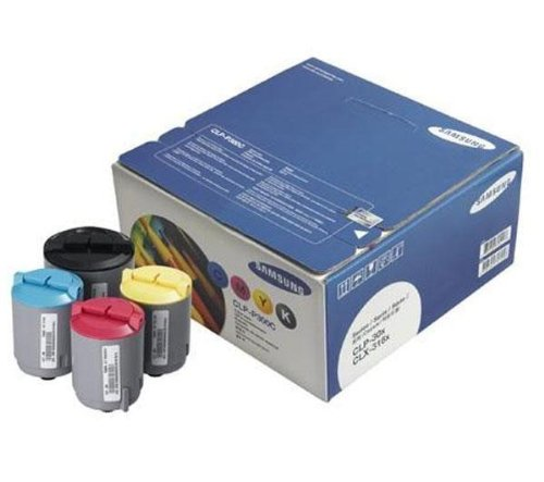Samsung CLP-P300C Rainbow kit - Toner cartridge colour (cyan, magenta, yellow, black)