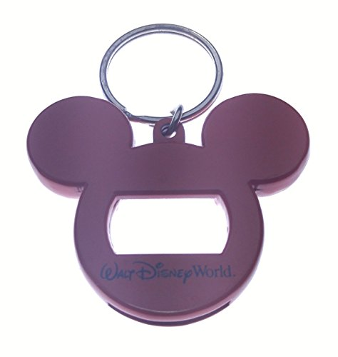 disney mickey head red metal bottle opener key chain niftywarehouse. Black Bedroom Furniture Sets. Home Design Ideas