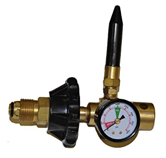Helium Tank Regulator Filler Valve for Balloons with Gauge Pkg/1