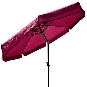 10 Ft Crank Tiltable Aluminum Garnet Umbrella Patio Market Outdoor Deck Beach from Generic Brand