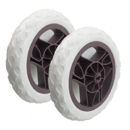 2 Pcs White Chocolate Color Sun Shape Bearing Shopping Cart Wheel Casters