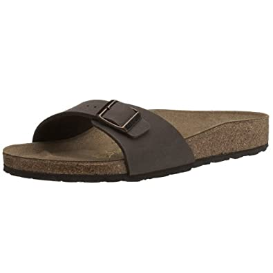 Birkenstock Madrid - 40091 Sandali unisex adulto - Normale - Marrone (Mocca Nubuk), IT 35 (UK 2)