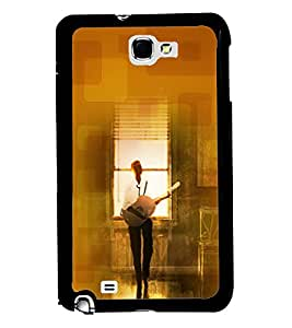 PRINTVISA Premium Metallic Insert Back Case Cover for Samsung Galaxy Note 2 - N7100 - D6086