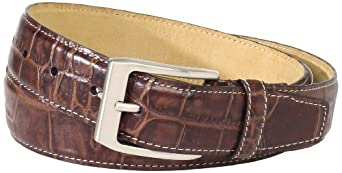 Joseph Abboud Men's Matte Belt, Brown, 32