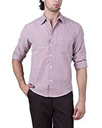 Mind The Gap Mens Shirt (Sn-Sfc-7169A_Maroon _Small)