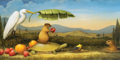 Artifact Puzzles - Kevin Sloan The Gift Arrives Wooden Jigsaw Puzzle