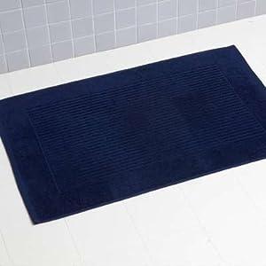 Linens limited tapis de bain 100 coton turc bleu marine - Tapis salle de bain bleu marine ...