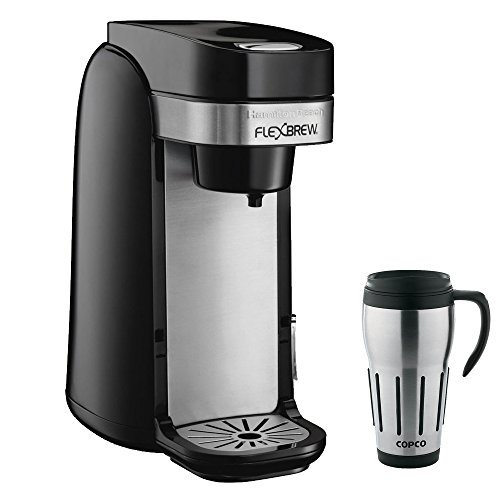 Hamilton Beach Single Serve Coffee Maker, Flexbrew with Copco 24-Ounce Big Joe Thermal Travel Mug (Thermal Travel Mug Coffee Cup 24 compare prices)
