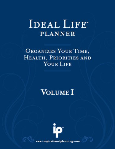 Ideal Life Planner Dateless 6-Month Blue