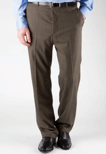 Brook Taverner Ayrshire Trouser in Grey Puppytooth Check 46R