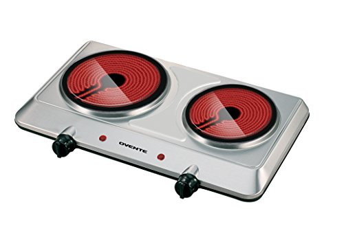 Ovente BGI202S 1500 Watts Trendy Portable Ceramic Infrared Double Cooktop Burner (Portable Electric Burner Double compare prices)